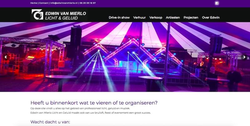 Een WordPress site - www.edwinvanmierlo.nl