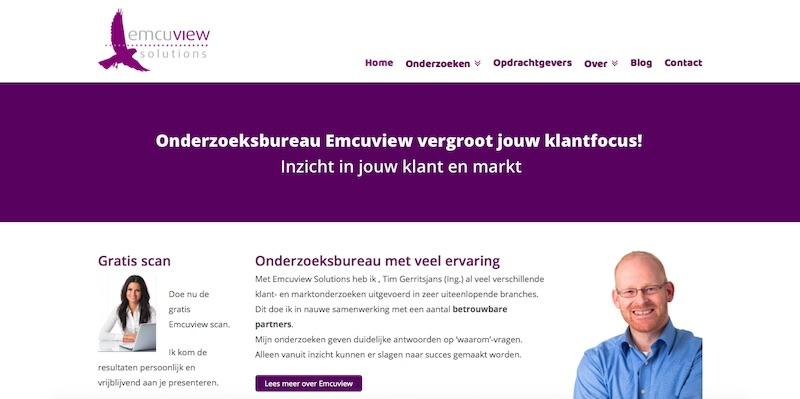 Een WordPress site - www.emcuview.nl
