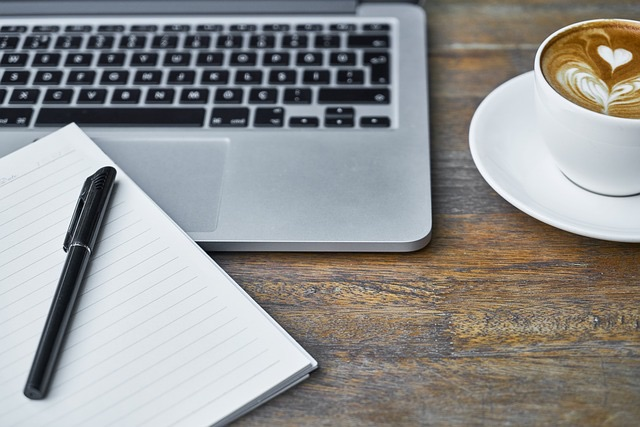 Een site van een tekstschrijver en websitebouwer